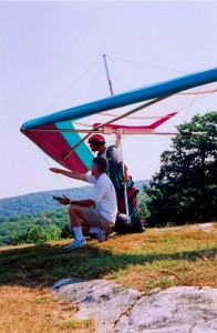 dad and Rat on launch